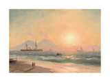 Watching Ships at Sunset Giclee Print by Ivan Konstantinovich Aivazovsky