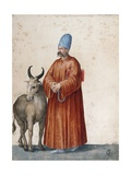 Turkish Man with Goat Giclee Print by Jacopo Ligozzi