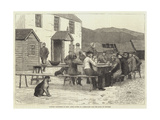 Scottish Volunteers at Home, after Dinner at a Sheep-Farm Near the Spital of Glenshee Giclee Print by J.M.L. Ralston