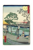 Evening Glow at the Riverbank Near Mimeguri, November 1861 Giclee Print by Hiroshige II