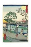 Evening Glow at the Riverbank Near Mimeguri, November 1861 Giclee Print by Hiroshige II
