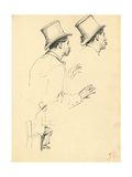 Studies for 'A Parisian Cafe': Sideview of Man's Head with Hat, C. 1872-1875 Giclee Print by Ilya Efimovich Repin