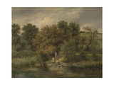 Sheep Washing at Postwick Grove, Norwich, C.1822 Giclee Print by James Stark