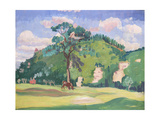 Landscape with a Grazing Horse, 1912-13 Giclee Print by James Dickson Innes