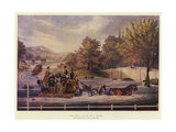 The Mail Coach in a Flood Giclee Print by James Pollard