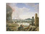 Hamburg after the Fire, 1842 Giclee Print by Jacob Gensler