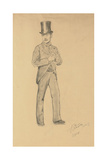 A Study for 'A Parisian Cafe' (1875): Gentleman in a Top Hat, 1875 Giclee Print by Ilya Efimovich Repin