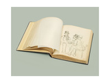 Ilya Repin's Parisian Sketchbook of 120 Drawings, Dated 1872-1875, C. 1872-1875 (Sketch-Book) Giclee Print by Ilya Efimovich Repin