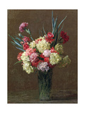 Carnations Giclee Print by Ignace Henri Jean Fantin-Latour