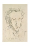 Alexander Sergeyevich Pushkin (1799-1837) 18 March 1981 (Pencil and Coloured Pencil on Paper) Giclee Print by Horst Janssen