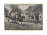 Afternoon in Hyde Park, Rotten Row Giclee Print by Jan Van Chelminski