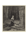 A Girl Praying Giclee Print by Hubert Salentin