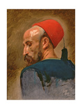 Head of an Arab in a Fez Giclee Print by Isidore Pils