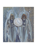 Angels Supporting a Dial Which Indicates the Hours of the Different Scenes of the Passion for 'The Giclee Print by James Jacques Joseph Tissot