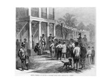 Selling a Freedman to Pay His Fine, at Monticello, Florida, Pub. 1867 Giclee Print by James E. Taylor
