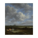 View of Haarlem from the Northwest with the Bleaching Fields in the Foreground, C.1650-82 Giclee Print by Jacob Isaaksz Ruisdael