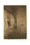 Nocturne: Palaces from The Second Venice Set, 1879-1880 Giclee Print by James Abbott McNeill Whistler