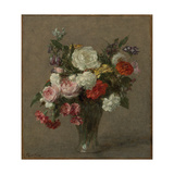 Flower Bouquet; Bouquet De Fleurs, 1900 Giclee Print by Ignace Henri Jean Fantin-Latour