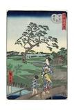 Weather Clearing at Sekiya Village, November 1861 Giclee Print by Hiroshige II