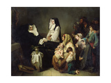 Death of a Sister of Charity, 1850 Giclee Print by Isidore Pils