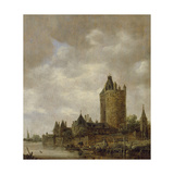 A Castle by a River, 1647 Giclee Print by Jan Josephsz. Van Goyen