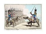 L'Infanterie Francaise En Egypte Giclée-tryk af James Gillray