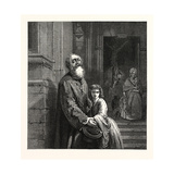 The Blind Beggar, in the National Gallery, 1859 Giclee Print by J.l. Dyckmans