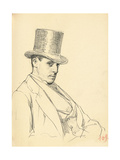 Seated Man with Top Hat, C. 1872-1875 Giclee Print by Ilya Efimovich Repin