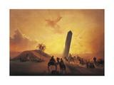 Caravan in Desert Giclee Print by Ippolito Caffi