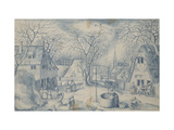 A Village Scene: Winter, 16th Century Giclee Print by Jacob I Savery
