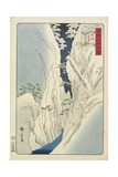 Snow at the Kiso Gorge in Shinshu Province, November 1859 Giclee Print by Hiroshige II