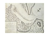 Map of Entrance of Endeavour River Giclee Print by James Cook