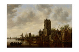 River Landscape with the Pellecussen Gate Near Utrecht, 1648 Giclee Print by Jan Josephsz. Van Goyen