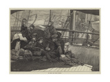 On Board the Dundee Steamer Giclee Print by James Macbeth