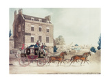 Quicksilver Royal Mail Passing the Star and Garter at Kew Bridge, 1835 Giclee Print by James Pollard