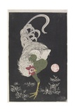 Rooster Giclee Print by Ito Jakuchu