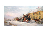 Stage Coach Outside a Tavern, Bath 1819 Giclee Print by J.C. Maggs