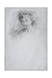 Whistler with the White Lock, 1879 Giclee Print by James Abbott McNeill Whistler