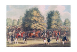 Epsom, Saddling in the Warren Giclee Print by James Pollard
