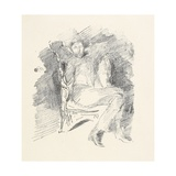 Firelight -Joseph Pennell, No. 1, 1896 Giclee Print by James Abbott McNeill Whistler