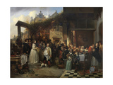 Wedding in Flanders in the Seventeenth Century Giclee Print by Jan August Hendrik Leys