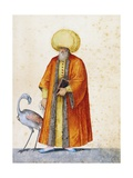 Turkish Man with Flamingo Giclee Print by Jacopo Ligozzi