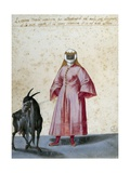 Turkish Woman with Goat Giclee Print by Jacopo Ligozzi
