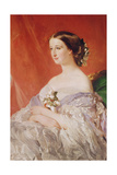 Empress Eugenie (1826-1920) after a Portrait by Francois Xavier Winterhalter (1806-73) Giclee Print by Jean Baptiste Ange Tissier