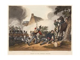 Death of Sir Thomas Picton, Engraved by M. Dubourg, 1819 (Coloured Aquatint) Giclee Print by John Augustus Atkinson