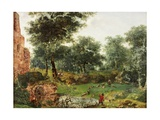 Wooded Landscape, C.1690-1700 Giclee Print by Jan Van Der Heyden