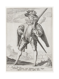 A Musketeer, 1587 Giclee Print by Jacques II de Gheyn