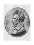 Medallion of Théophile Gautier Giclee Print by Jean-bernard Duseigneur