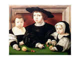 The Children of King Christian II of Denmark Giclee Print by Jan Gossaert