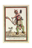 Iroquois Setting Out on an Expedition Giclee Print by Jacques Grasset de Saint-Sauveur
